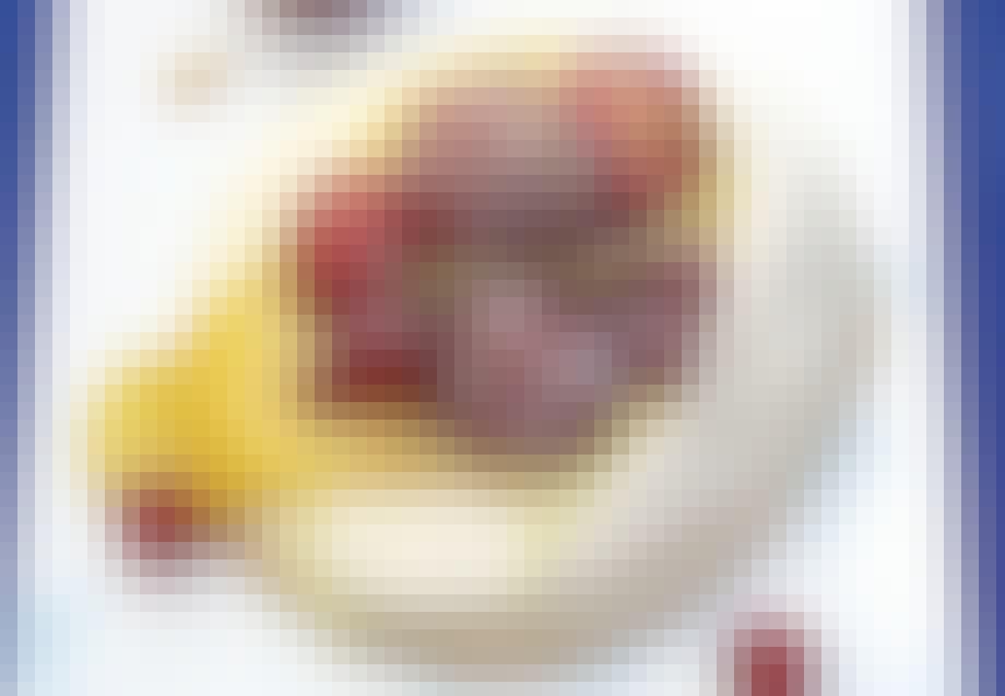 Marengs med jordbær, ribs og citroncreme