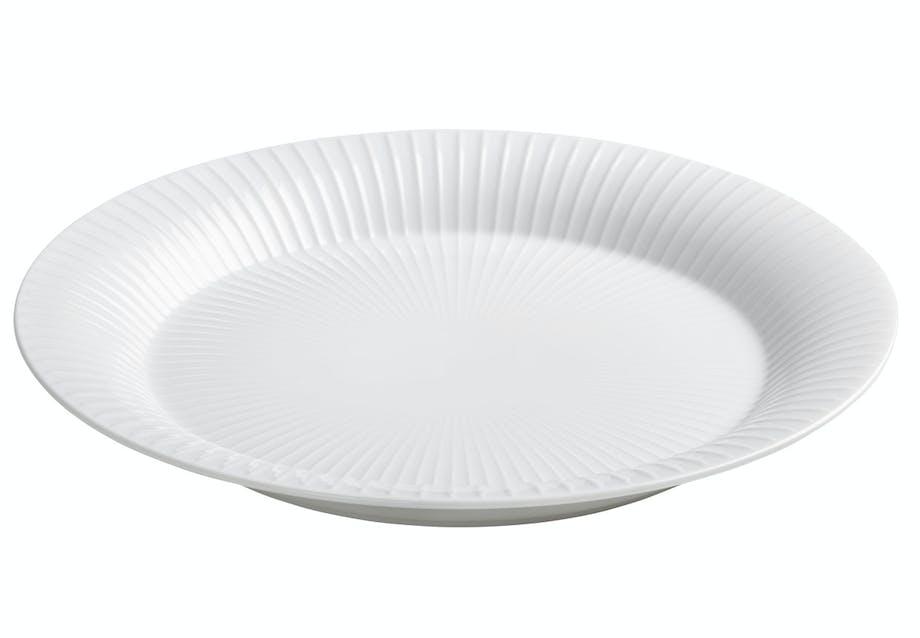 Riflet middagstallerken fra Kähler