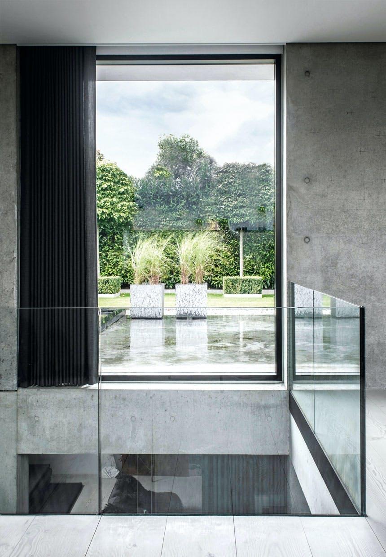 Glasafskærmning med frit udsyn til haven