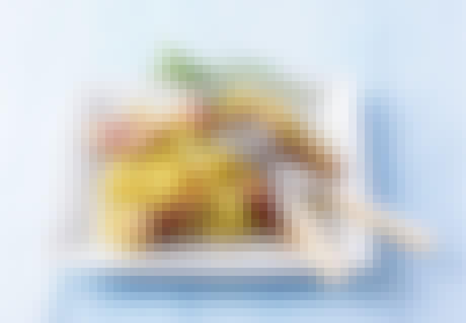 Italiensk fettucine med kylling og røget skinke