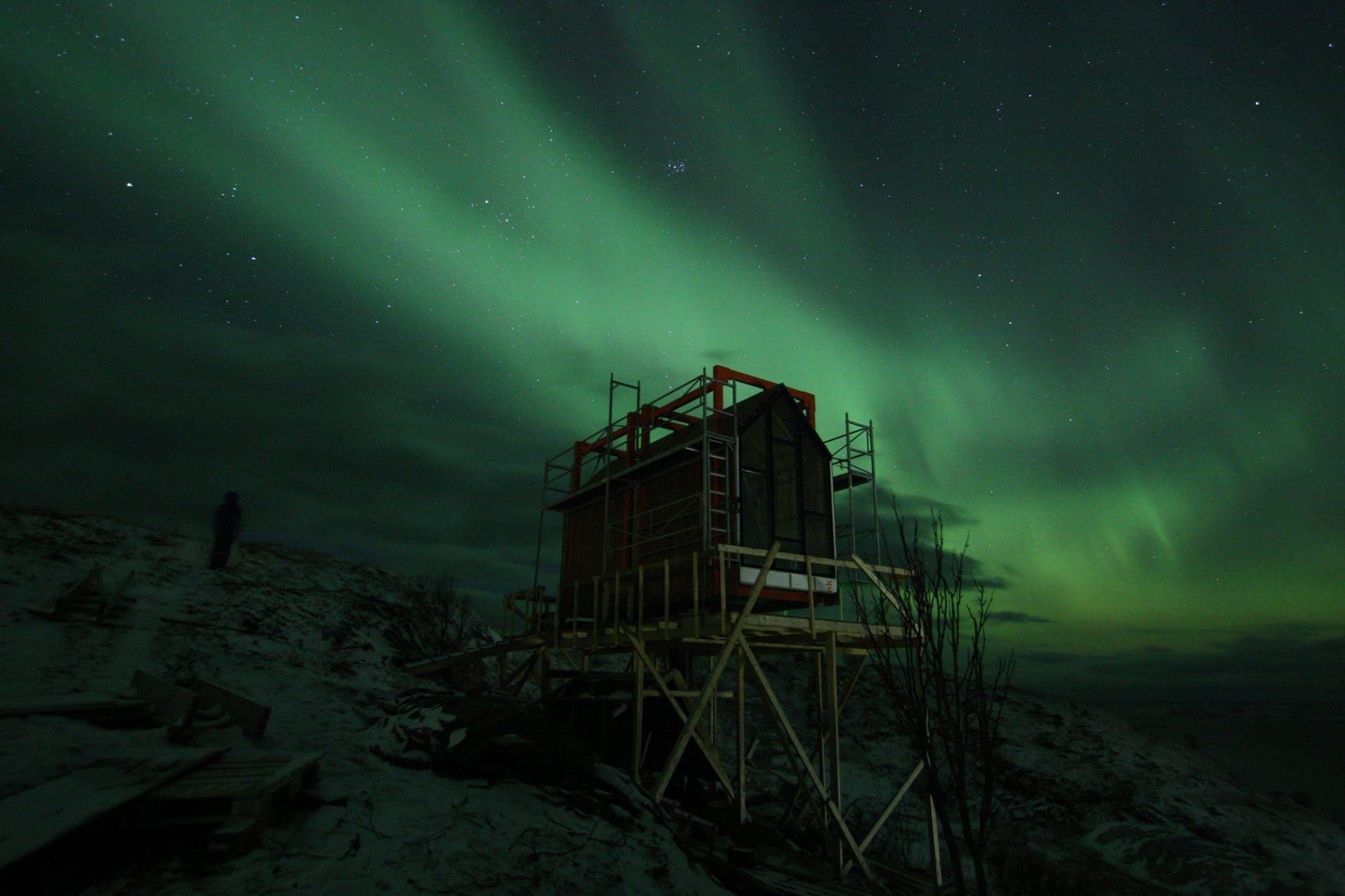 Nordlys ved polarcirklen