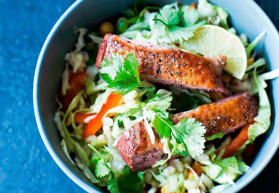 Asiatisk salat med andebryst og kål