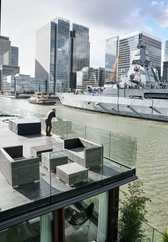 Fantastisk udsigt til Themsen og London City