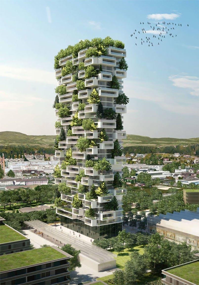 Grønt tårn i Lausanne