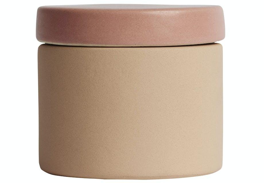 Håndmalet krukke i keramik