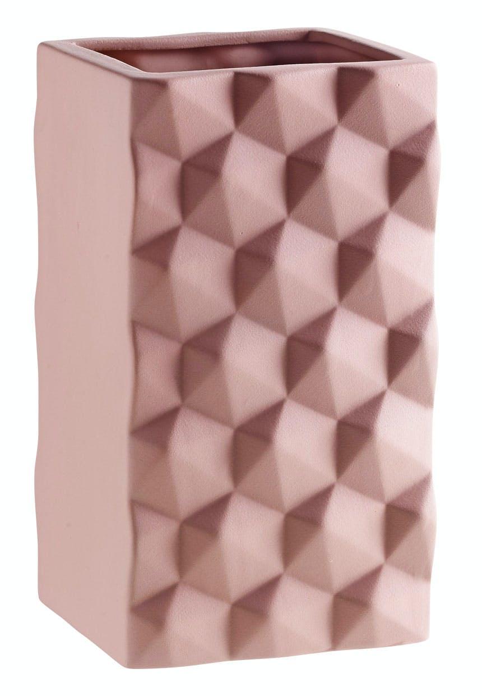 Rosafarvet vase