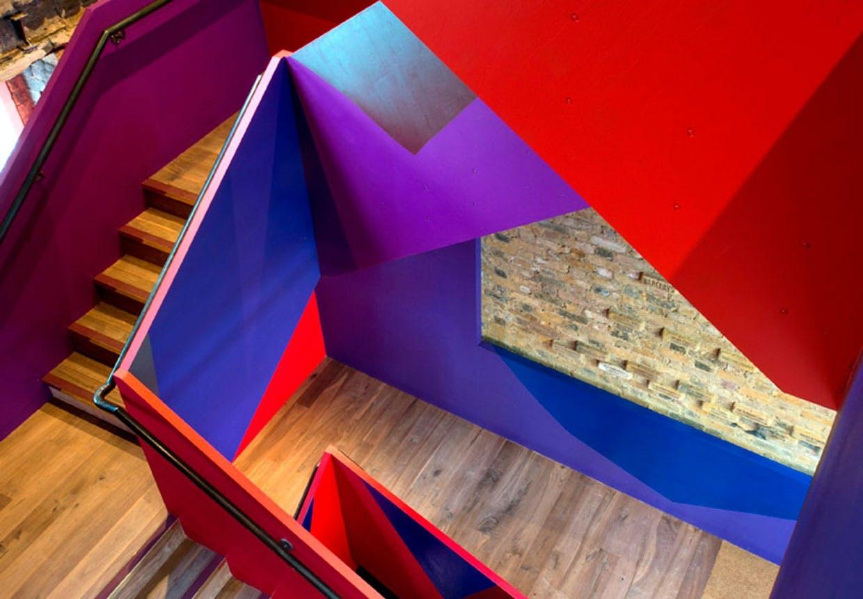 Den farvede trappe