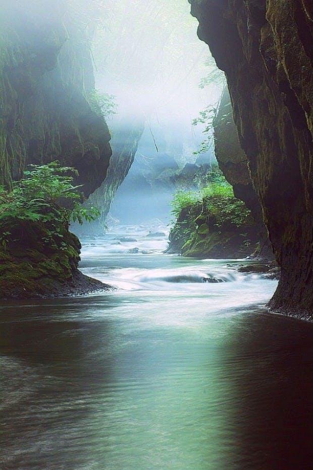 Tarumae Gorge i Japan
