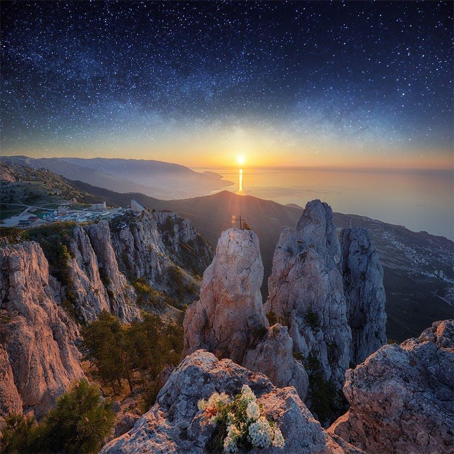 Mount Ai-Petri i Ukraine