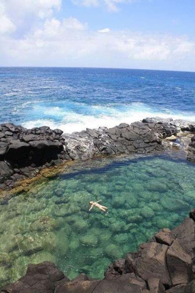 Queens Bath på Kauai