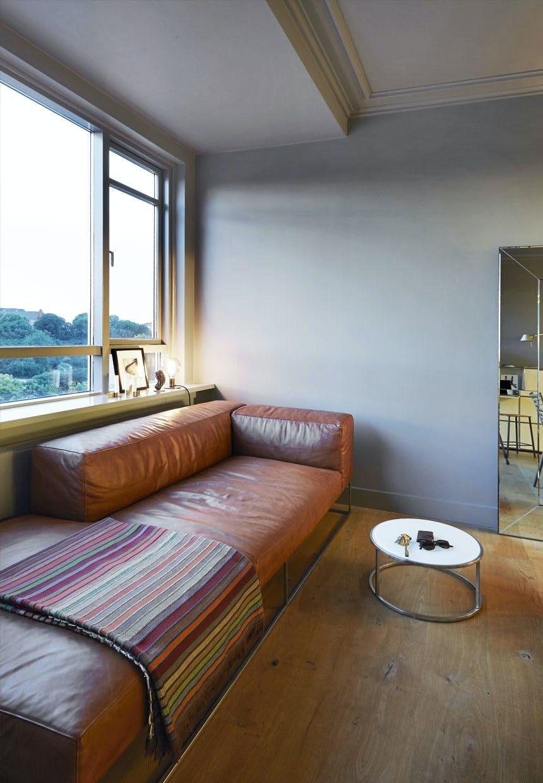 Nøddebrun sofa fra Living Divani