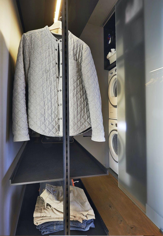 Entre med lille garderobe