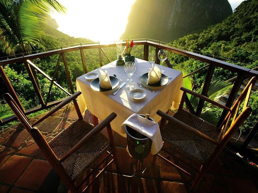 Resort på St. Lucia