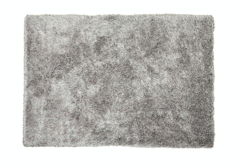 Sølvfarvet rya-tæppe