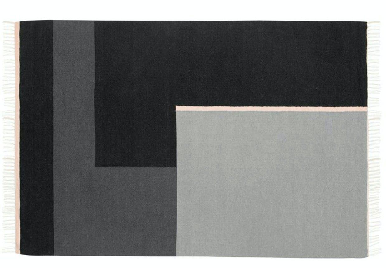 Håndvævet kelimtæppe i afdæmpede farver
