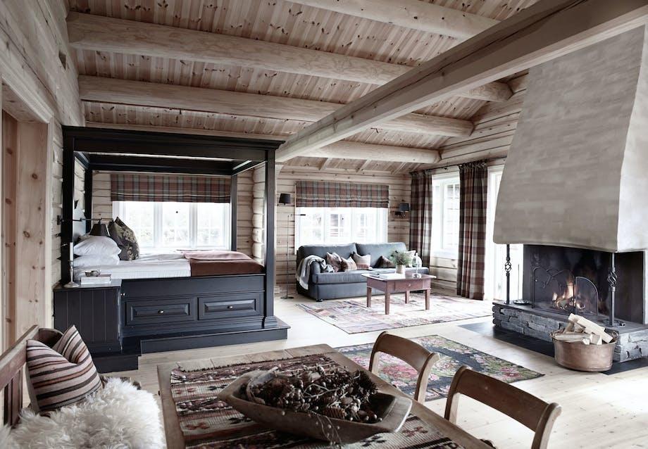 Bjælkehus med moderne komfort