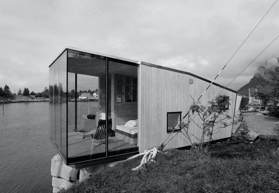 Tredelt norsk hytte
