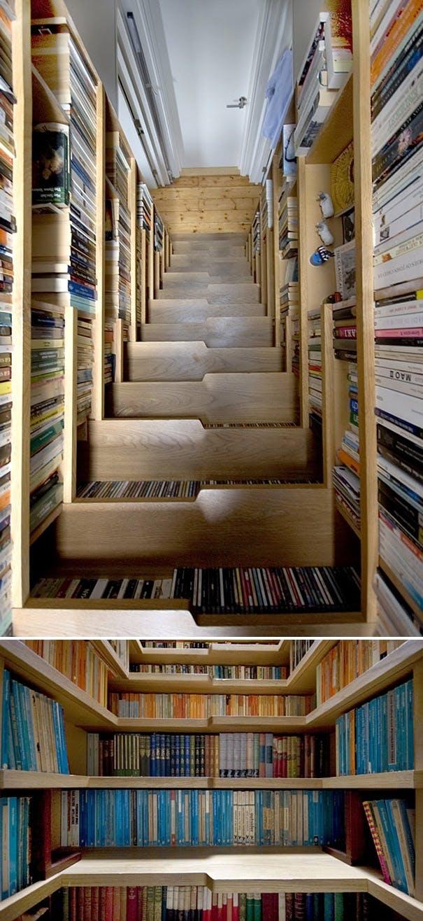 Forunderlig bogtrappe