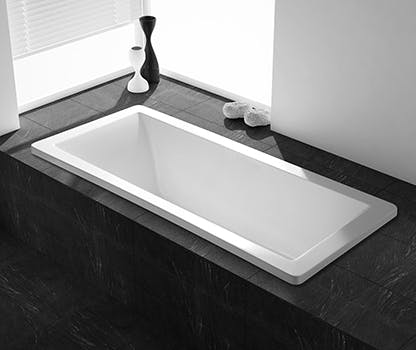indbygget badekar Badekar og spabadekar til badeværelset | bobedre.dk indbygget badekar