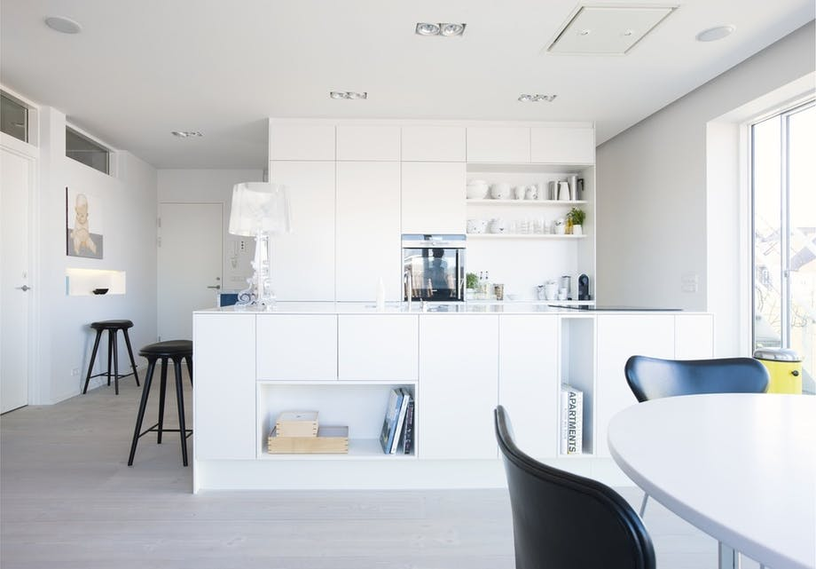 Hvid køkkenø
