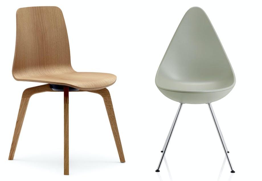 Dråben - spisebordsstol af Arne Jacobsen