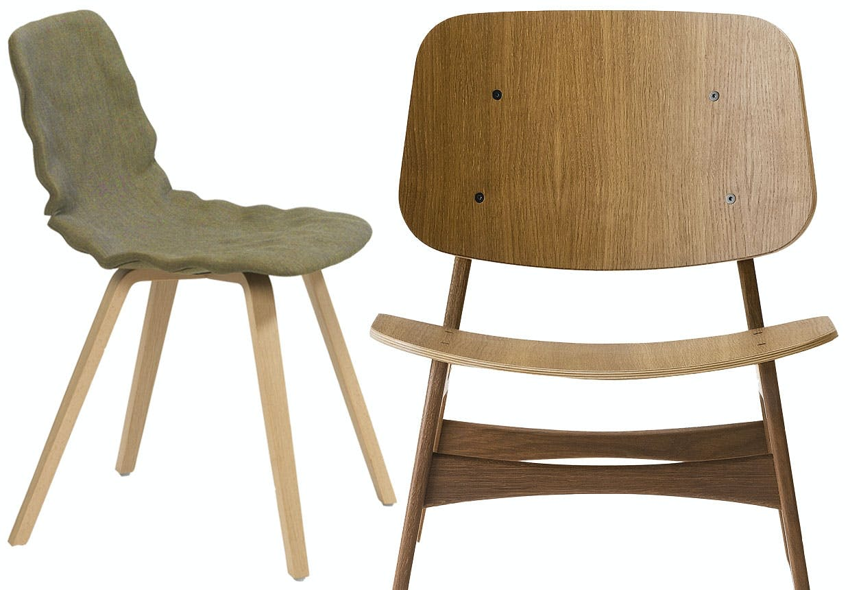 Spisebordsstole og spisestole af klassiske og moderne designere.