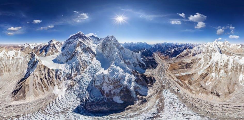 Mount Everest på en god dag
