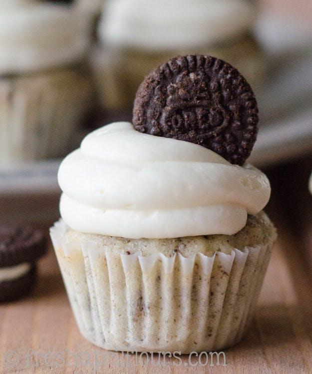 Cookie Cupcakes med Oreos