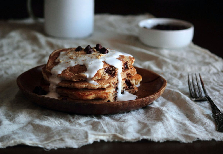 Mættende pandekager med chokolade