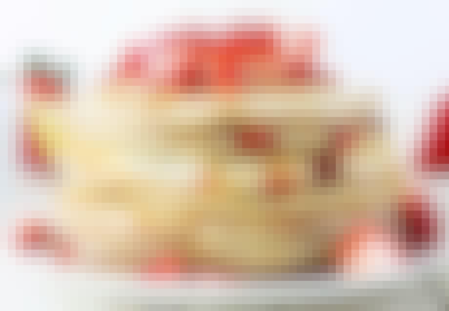 Birkes og jordbærsauce