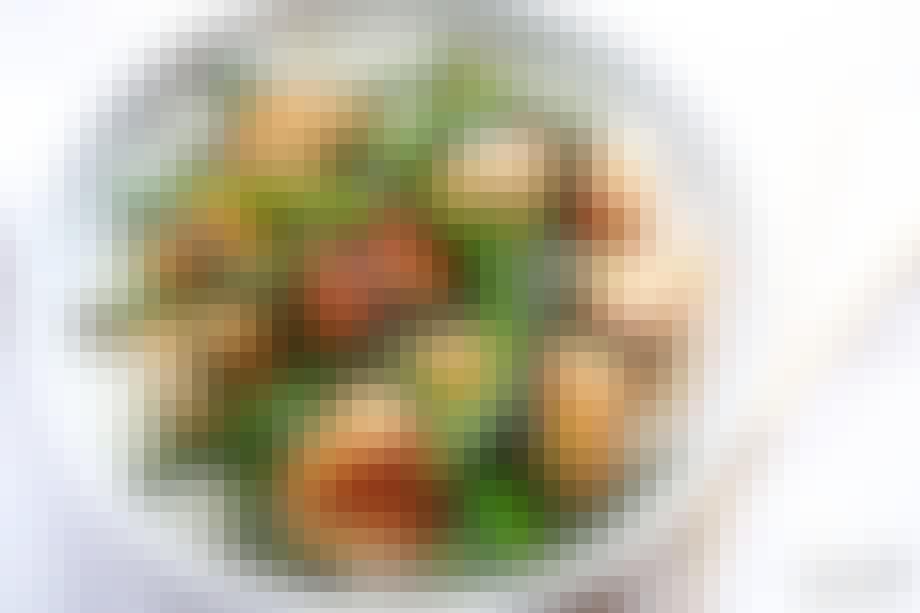 Wok med kylling og asparges