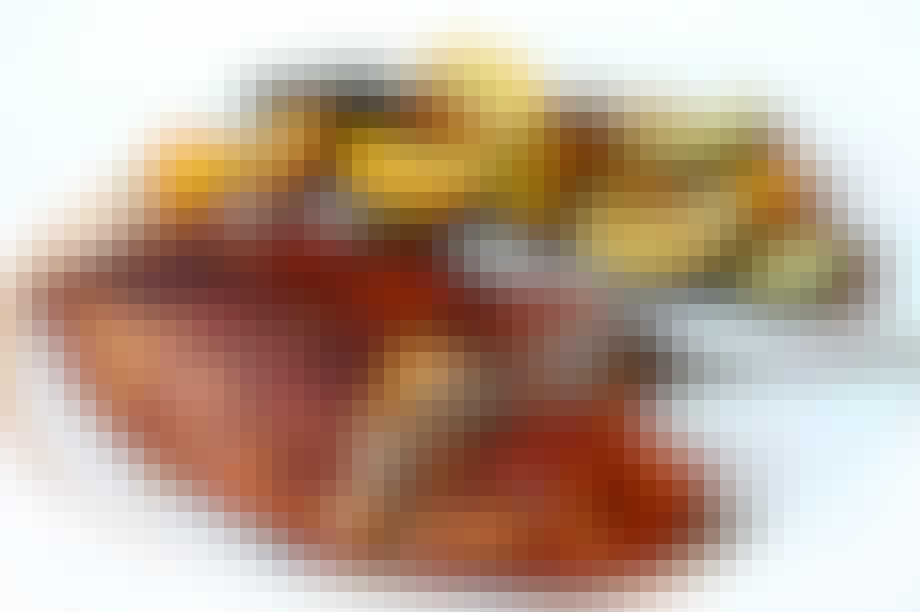 Stegt Tilapia med grønsager