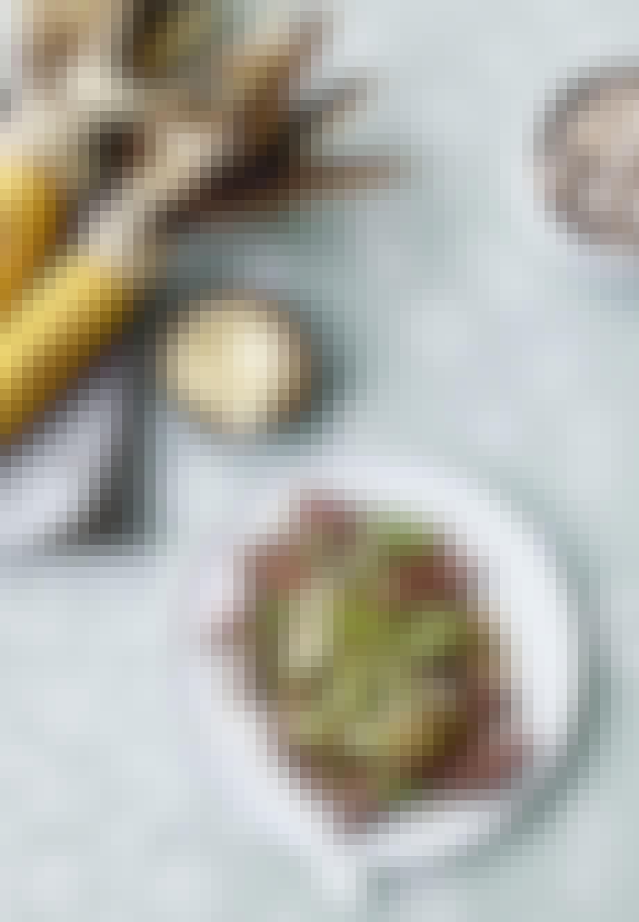 Grillet cote de boeuf med ingefær dressing