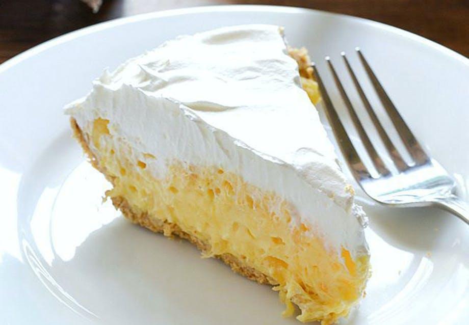 Nemme desserter på 5 minutter Luftig ananas-tærte