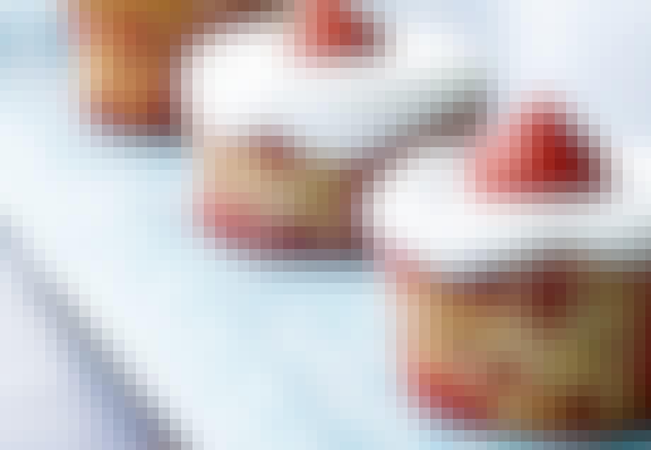 Jordbær- og marcipanmuffins