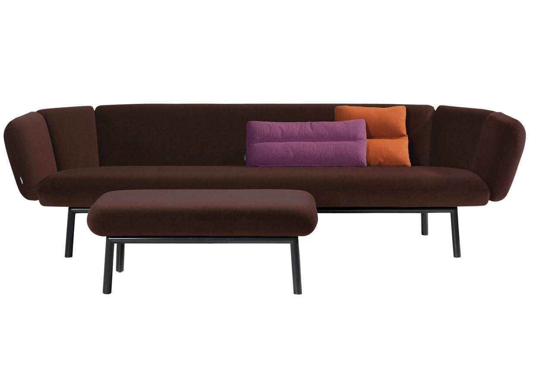 Auberginefarvet sofa