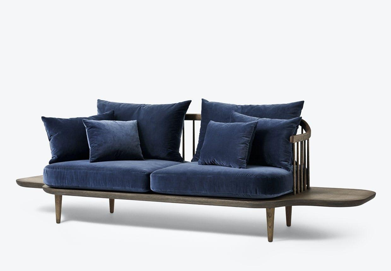 Space Copenhagen - blå Fly-sofa