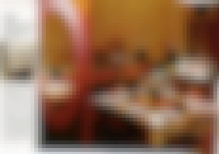 Hygge med orange og brune nuancer