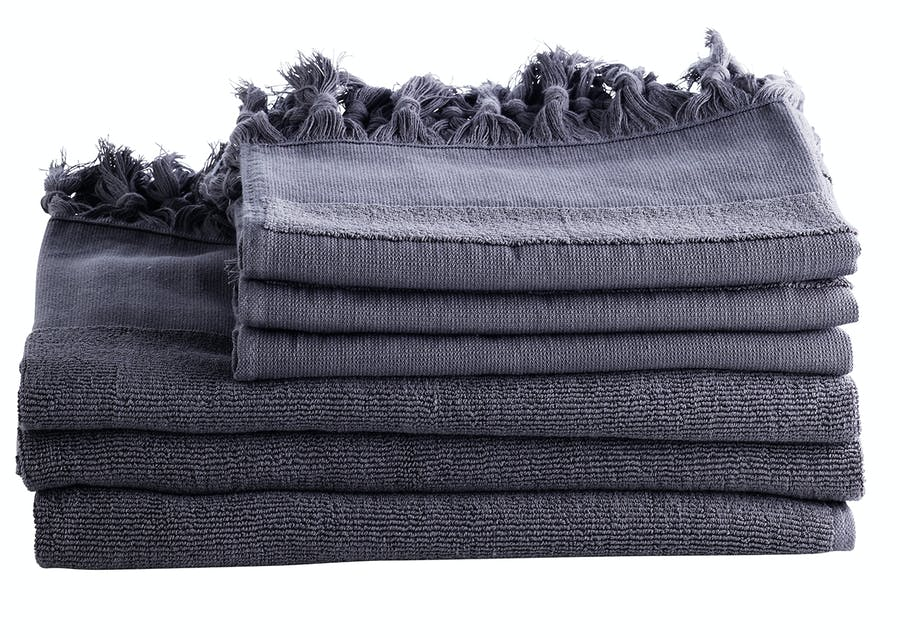 Blågrå håndklæder