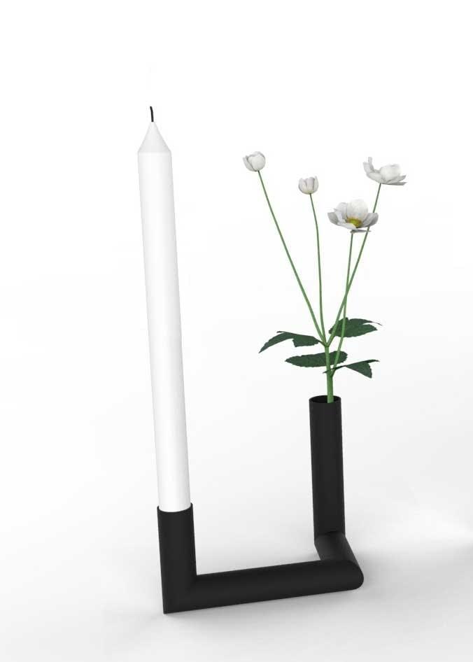 Pipeline-vase og lysestage