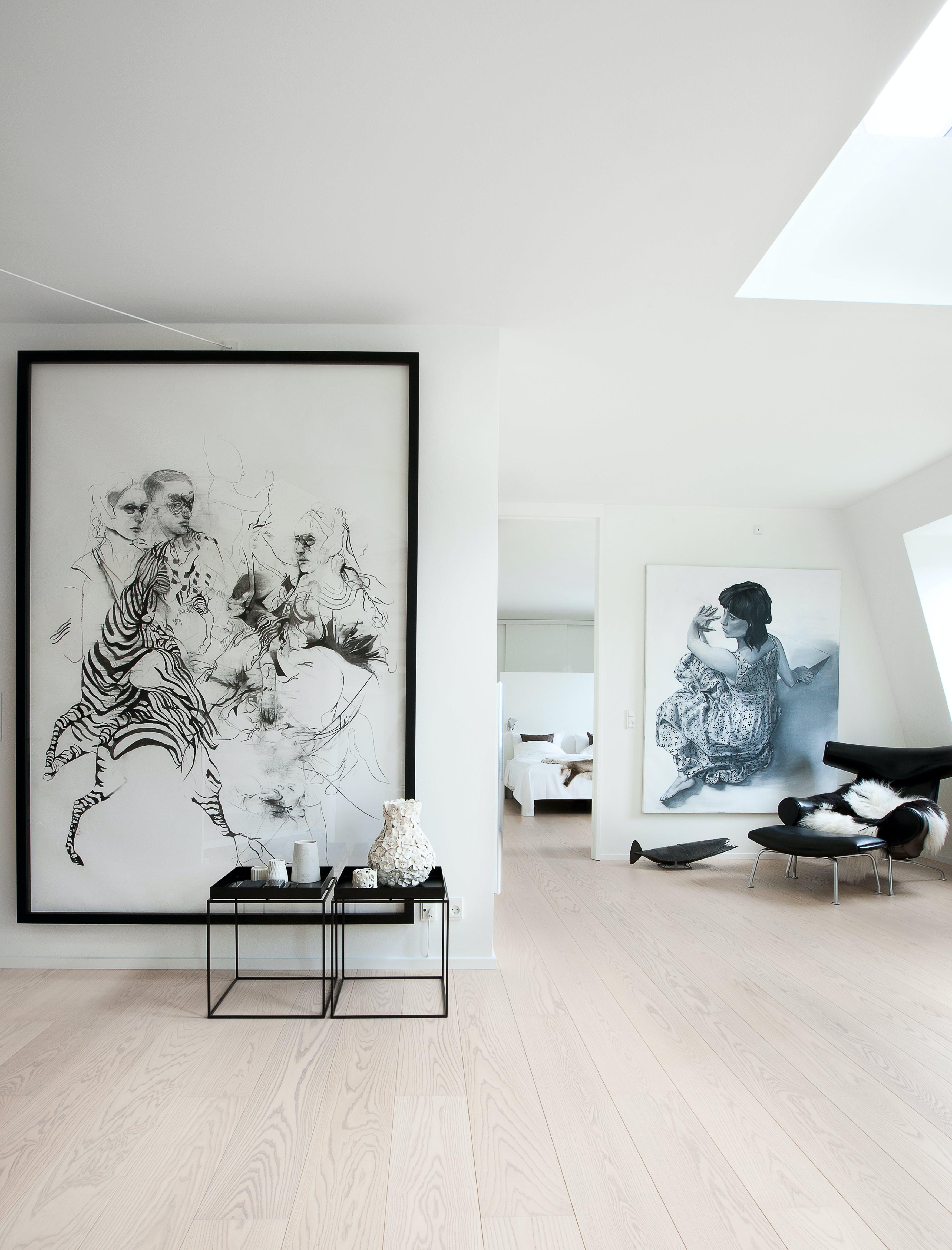 Sort & hvidt hjem i særklasse