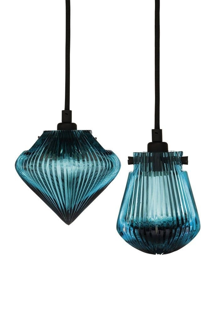 Lampe i glas