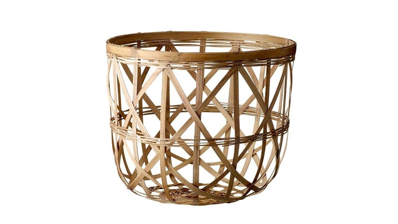 Kurv, flettet af bambus