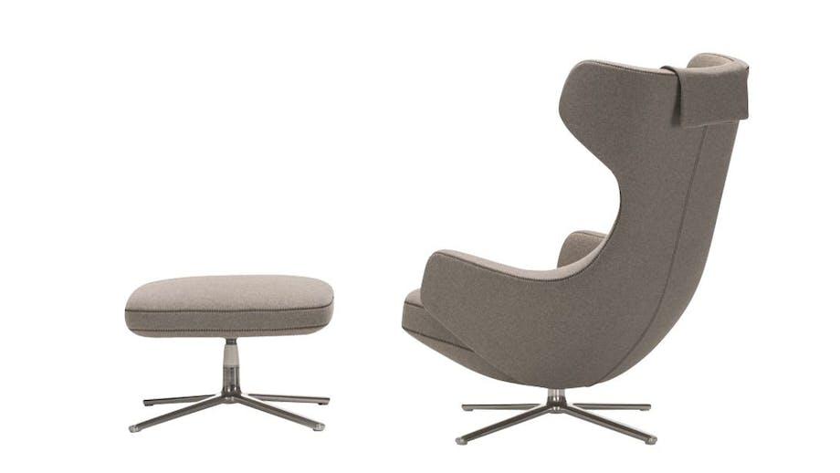 Grand Repos-loungestol og fodskammel