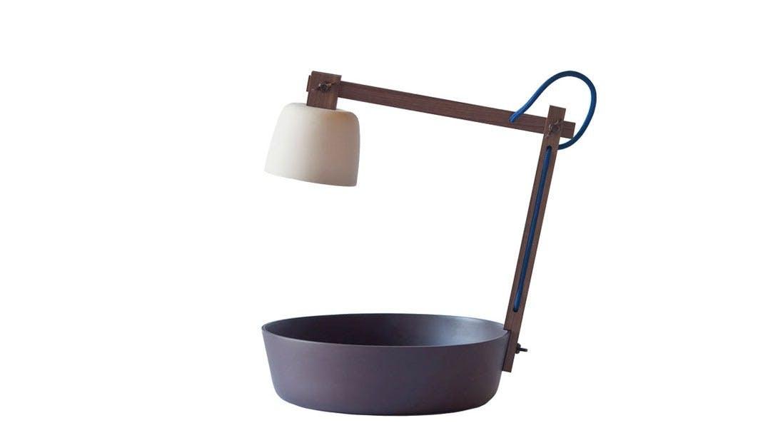 Lampe og skål