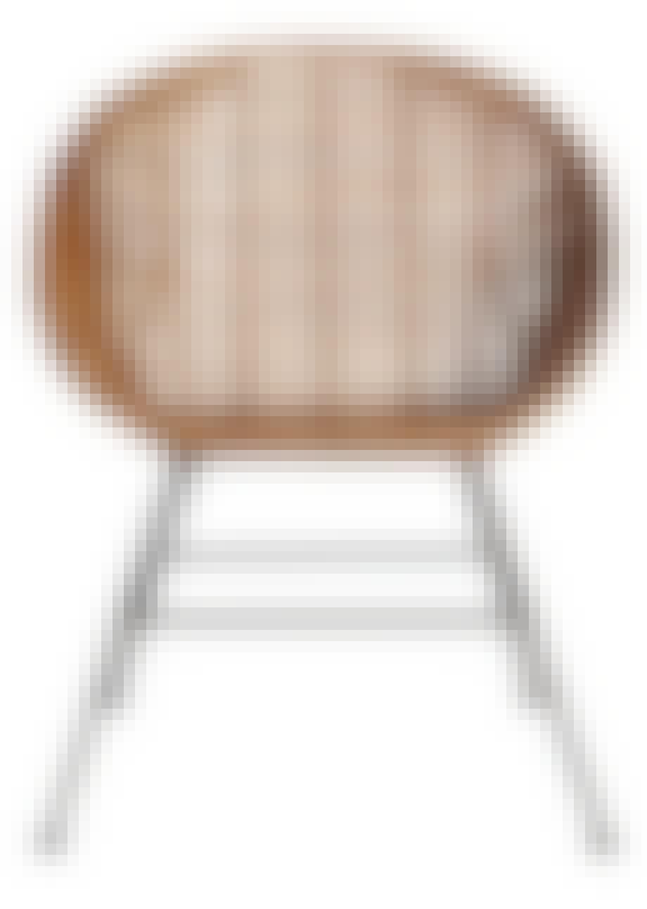 Loungestol med skal i flettet