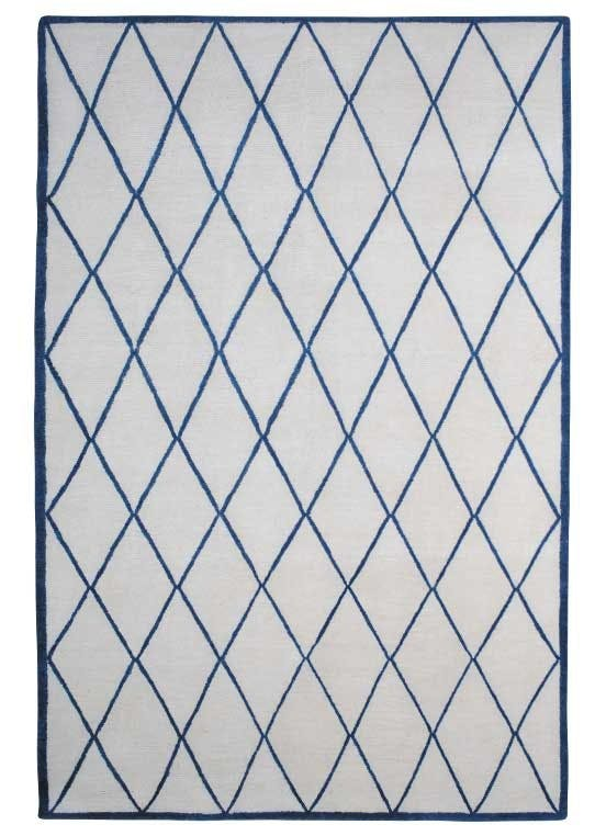 Håndknyttet tæppe, Damascus Blue