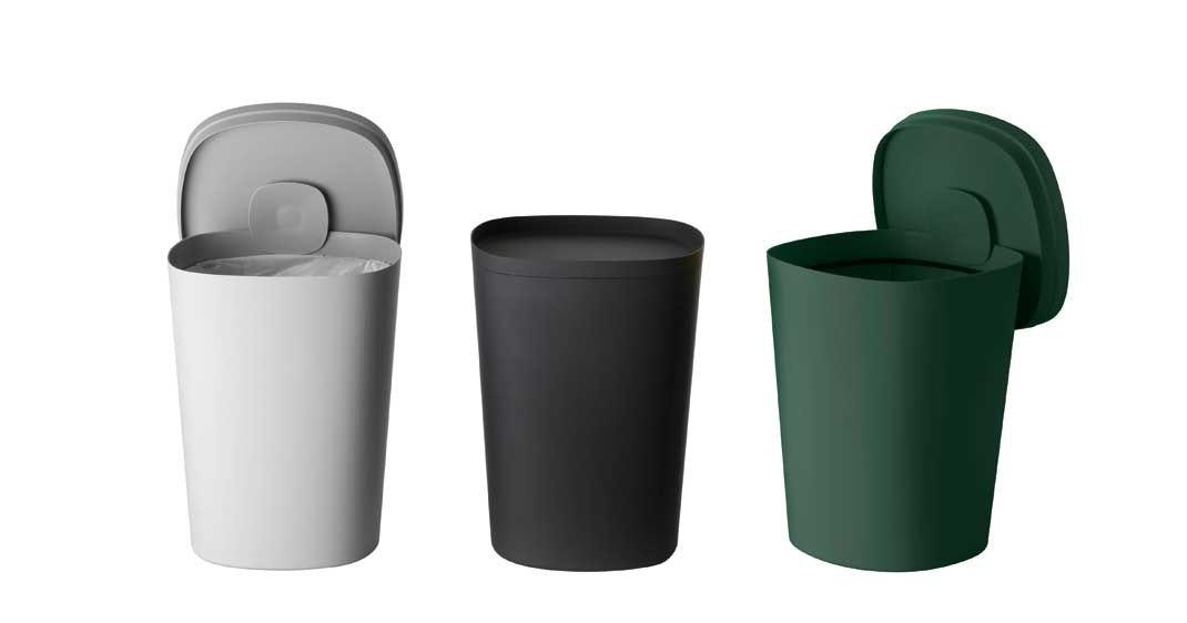 Moderne affaldsspand