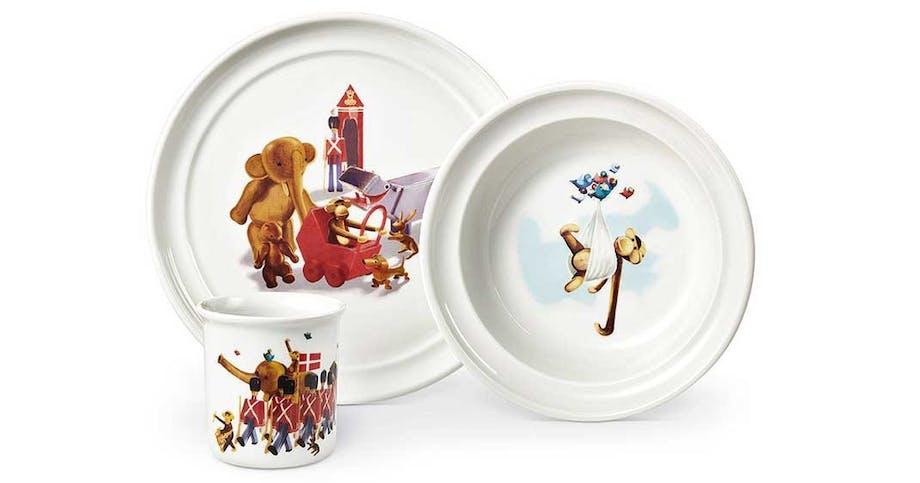 Børneservice i porcelæn