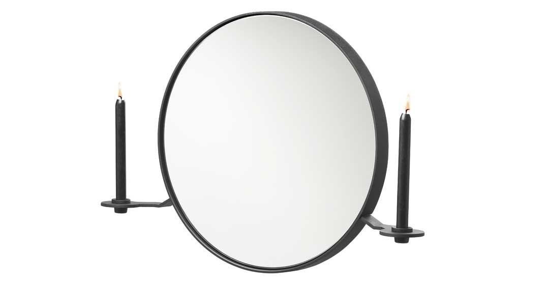 Spejl med lyseholdere